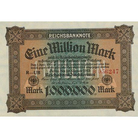 Billets de banque Allemagne Pk N° 86 - 1 000 000 Mark
