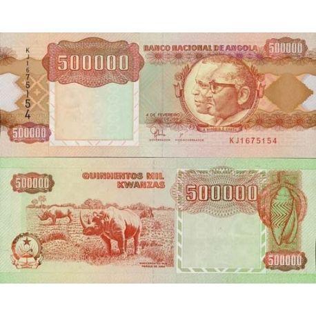Billets de banque Angola Pk N° 134 - 500 000 Kwanzas