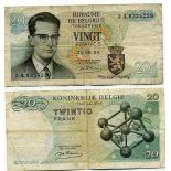 Collezione di banconote Belgio Pick numero 138 - 20 FRANC 1964