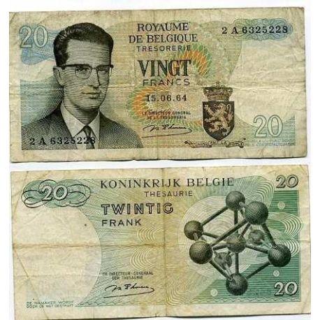 Belgique - Pk N° 138 - Billet de 20 Francs
