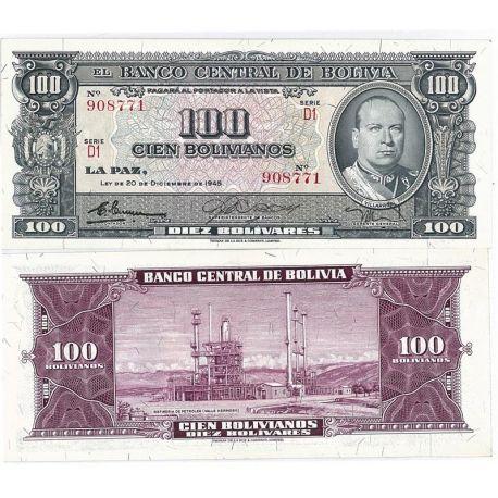 Billets de banque Bolivie Pk N° 147 - 100 Pesos
