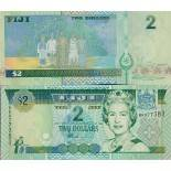 Beautiful banknote Fiji Pick number 104 - 2 Dollar 2002