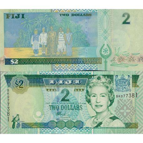 Billets de banque Fidji Pk N° 104 - 2 Dollars