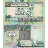 Billets de banque Koweit Pk N° 24 - 1/2 Dinar