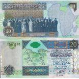 Banknoten Sammlung Libyen Pick Nummer 67 - 20 Dinar