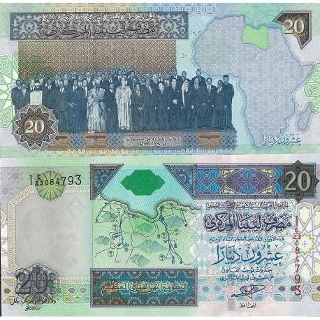 Billets de banque Libye Pk N° 67 - 20 Dinar