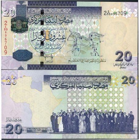 Billets de banque Libye Pk N° 74 - 20 Dinar