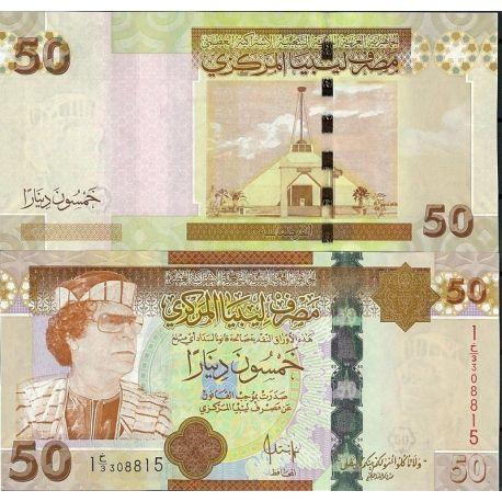 Billets de banque Libye Pk N° 75 - 50 Dinar
