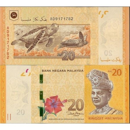 Billets de banque Malaisie Pk N° 99999NEW 20 - 20 Ringgit