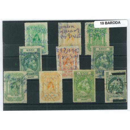 Baroda - 10 timbres différents
