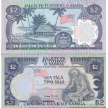 Banknoten Sammlung Samoa Pick Nummer 25 - 2 Tala
