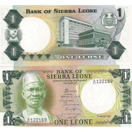 Billets de collection Billets de banque Sierra Leone Pk N° 5A - 1 Leones Billets de Sierra Leone 8,00 €