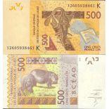 Beautiful banknote Senegal Pick number 999 - 500 FRANC 2003