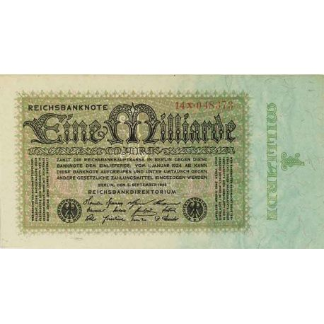 Billets de collection Billets de banque Allemagne Pk N° 114 - 1 Milliard Mark Billets d'Allemagne 41,00 €