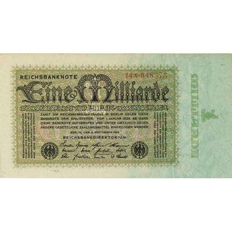 Allemagne - Pk N° 114 - Billet de 1 Milliard Mark