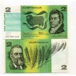 Bello banconote Australia Pick numero 43 - 2 Dollar 1985