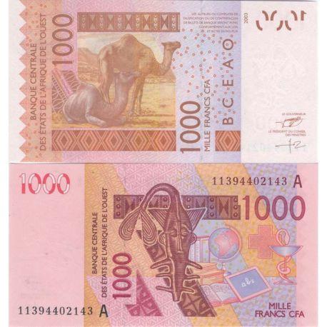 Billets de collection Billets collection Afrique De L'ouest Cote D'ivoire Pk N° 115 - 1000 Francs Billets de Cote D'ivoire 9,...