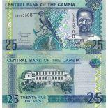 Billets de banque Gambie Pk N° 27 - 25 Dalasis