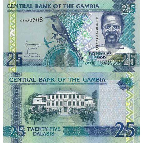 Billets de collection Billets de banque Gambie Pk N° 27 - 25 Dalasis Billets de Gambie 7,00 €