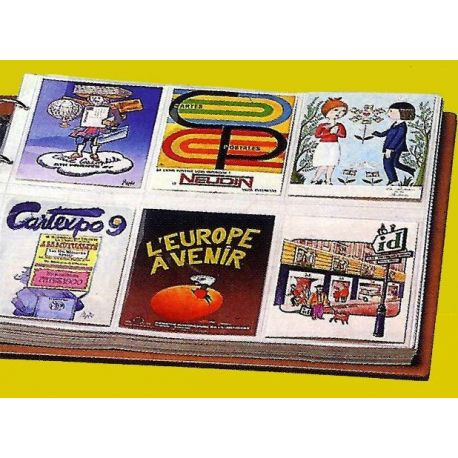 Lot de 10 Feuilles pour 12 cartes modernes horizontales