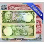 Afghanistan - Raccolta di tutti i 10 diverse banconote