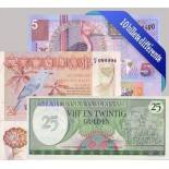 Beautiful collection of 10 different all banknotes Suriname