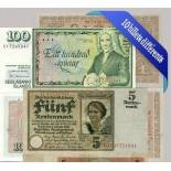Beautiful collection of 10 different banknotes from all Germany