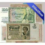 Schone Sammlung von 10 verschiedene Banknoten aus ganz Deutschland