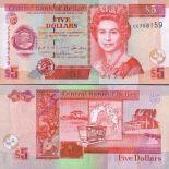 Collezione di banconote Belize Pick numero 61 - 5 Dollar 1999