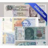 Argentina - Raccolta di tutti i 10 diverse banconote