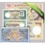 Bhutan- Bella serie di 5 raccolta di banconote