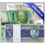 Brazil: 10 Beautiful set collection of bank notes.