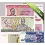 Zaire- Bella serie di 5 raccolta di banconote