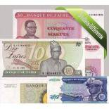 Zaire- Schoner Satz von 5 Sammlung von Banknoten