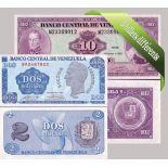 Venezuela- Bella serie di 5 raccolta di banconote