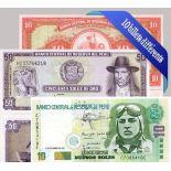 Perou - Collection de 10 billets de banque tous différents.