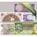 Uganda - Collection of 5 different all bank notes.