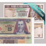 Guatemala - Collection de 3 billets de banque tous différents.