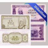 Belle collection de 10 billets de banque tous différents de Guinee Française