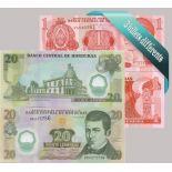 Honduras : Bel ensemble de 3 billets de banque de collection.
