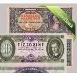 Hongrie - Collection de 5 billets de banque tous différents.