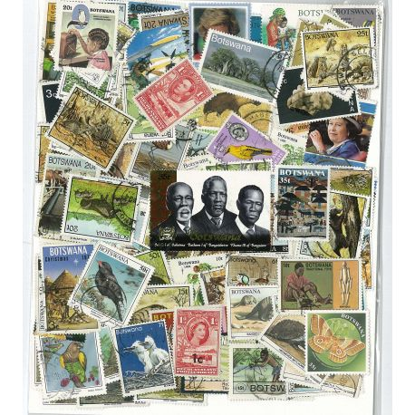 Collection de timbres Bechuanaland Botswana oblitérés