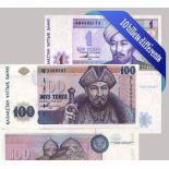 Belle collection de 10 billets de banque tous différents de Kazakhstan