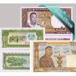 Belle collection de 15 billets de banque tous différents de Laos