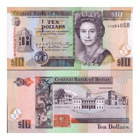 Belize - Pk N° 62 - Billet de 10 Dollars