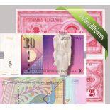 Macedoine - Collection de 5 billets de banque tous différents.