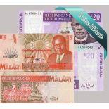 Malawi - Colección de los 3 billetes diferentes.
