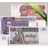 Myanmar- Bella serie di 5 raccolta di banconote