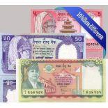 Belle collection de 10 billets de banque tous différents de Nepal