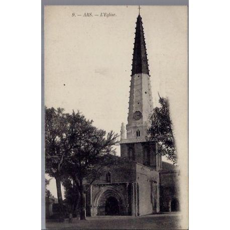 Carte postale 01 - Ars - L'eglise - Non voyage - Dos divise...